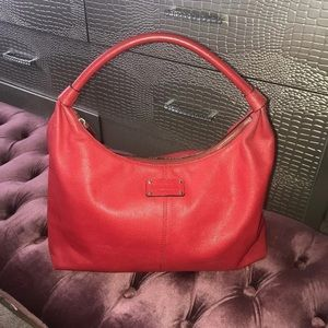 Kate Spade Red Leather Tote Bag